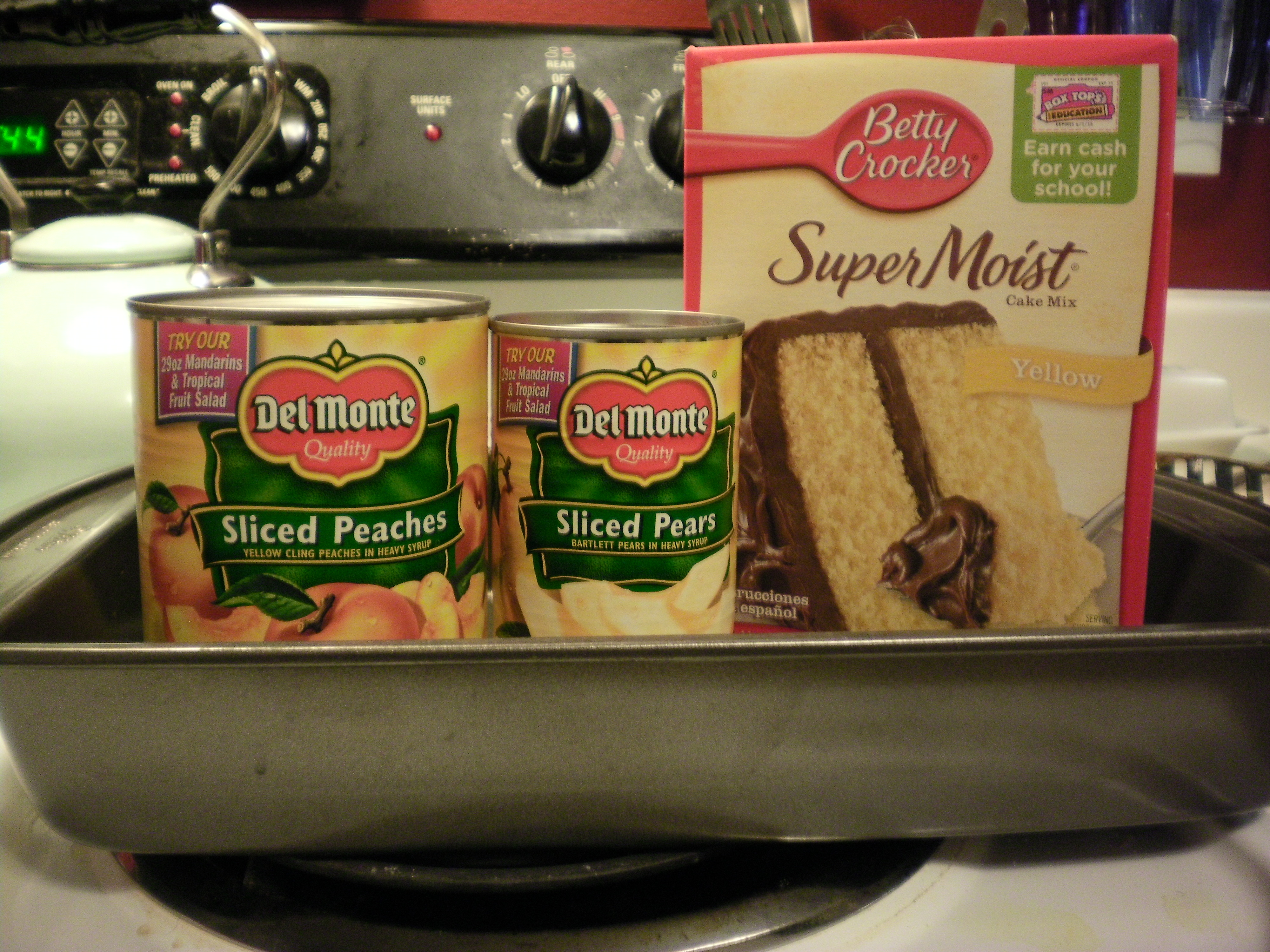 Peach Crisp With White Cake Mix
