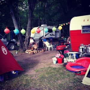 Another view of our cute site and papaer lanterns!
